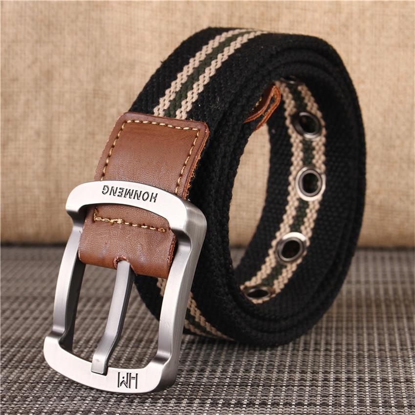 [해외]UniCanvas Belt Military Equipment Army Belt For Trousers Casual Outdoor Tactical Men Belt Pin Buckle Long Black Waist Belt/UniCanvas Belt Military