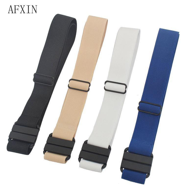[해외]UniElastic Belt for Jeans Pants Adjustable Waist Belt Women Men Plus Size Stretch Khaki Blue Black Waist Band Buckle Free/UniElastic Bel