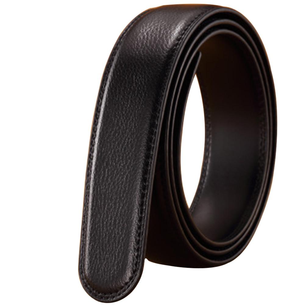 [해외]Headless Waist Strap Leather Vintage Luxury Business Automatic Ribbon Without Buckle 14 Lines Mens Belt Durable/Headless Waist Strap Lea