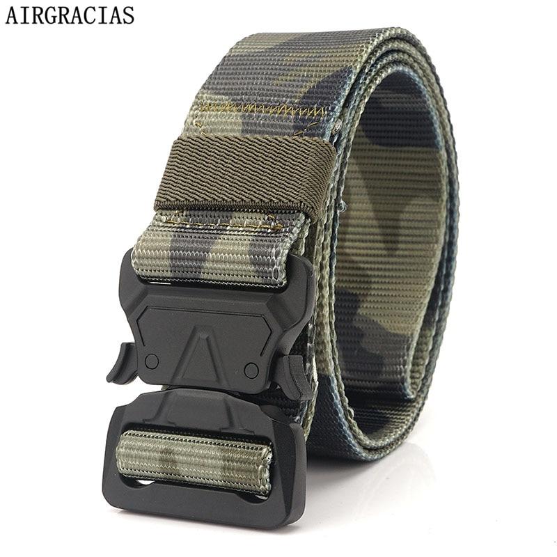 [해외]AIRGRACIAS Nylon Belt Men Army Tactical Belts For Men Military Camouflage Combat Belts Emergency Survival Tactical Strap/AIRGRACIAS Nylo