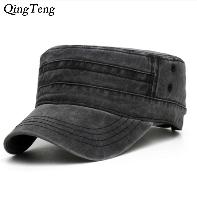 [해외]Washed Denim Black Cap For Men Cotton Flat Hat Outdoor Casual Dad Hats Adjustable Women Baseball Caps Male Dropshipping/Washed Denim Black Cap For
