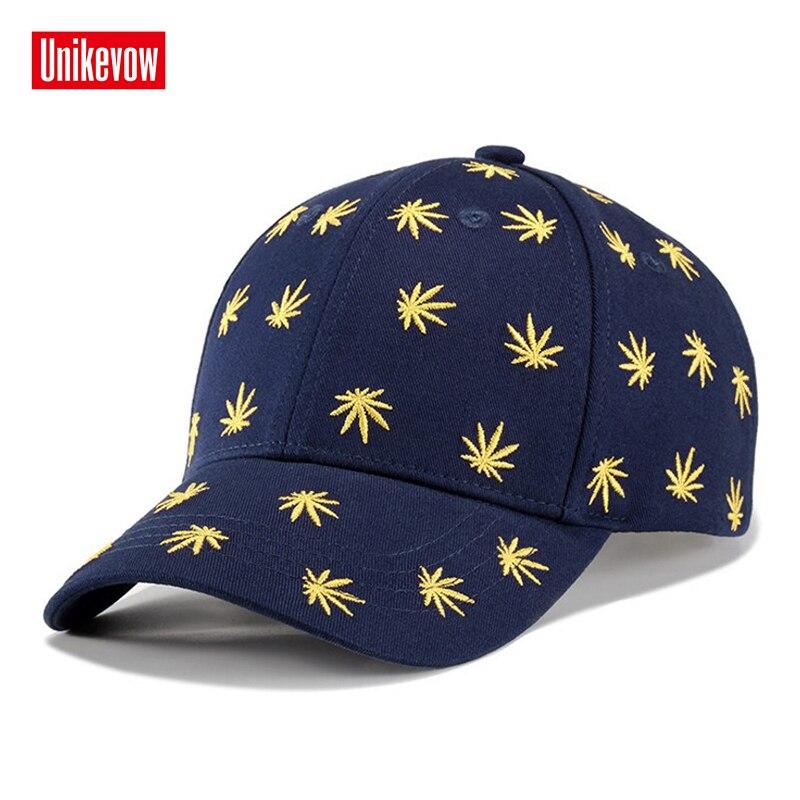 [해외]UNIKEVOW Cotton Men`s Baseball Cap3D Leaves Embroidered Hats Leisure Sports Cap /UNIKEVOW Cotton Men`s Baseball Cap3D Leaves Embroidered Hats Leis