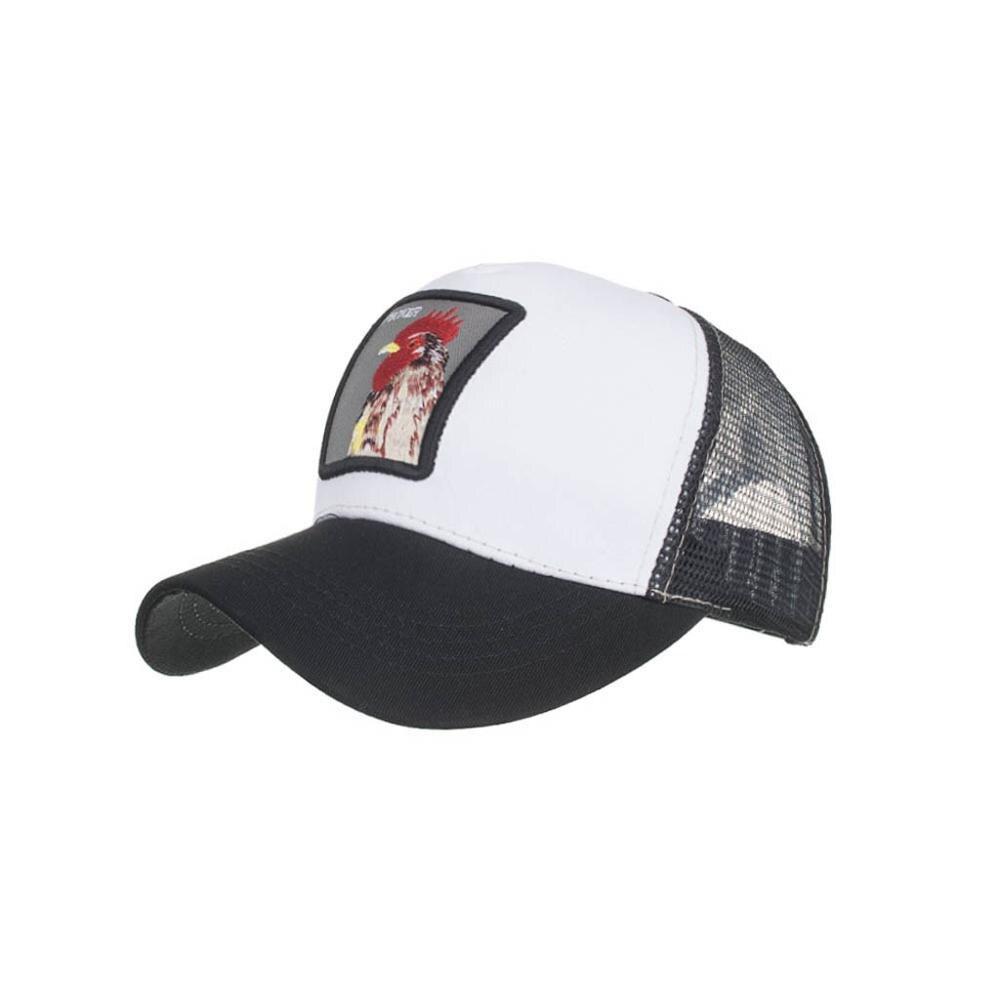 [해외]Mnycxen UniFashion Creative Animals Embroidery Baseball Caps 2019  Hip Hop Summer Sport Sun Hats For Student New/Mnycxen UniFashion Creative Anima
