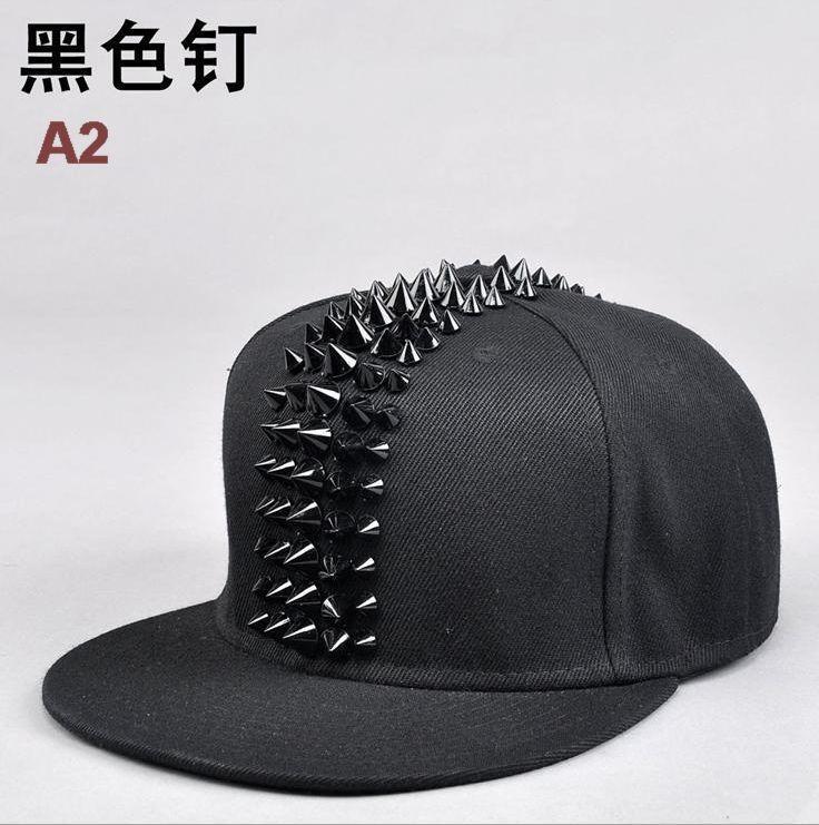 [해외]Wholesale Male Spike Studs Rivet Baseball Caps Men Hiphop Punk Rock Flat Snapback Hats/Wholesale Male Spike Studs Rivet Baseball Caps Men Hiphop P