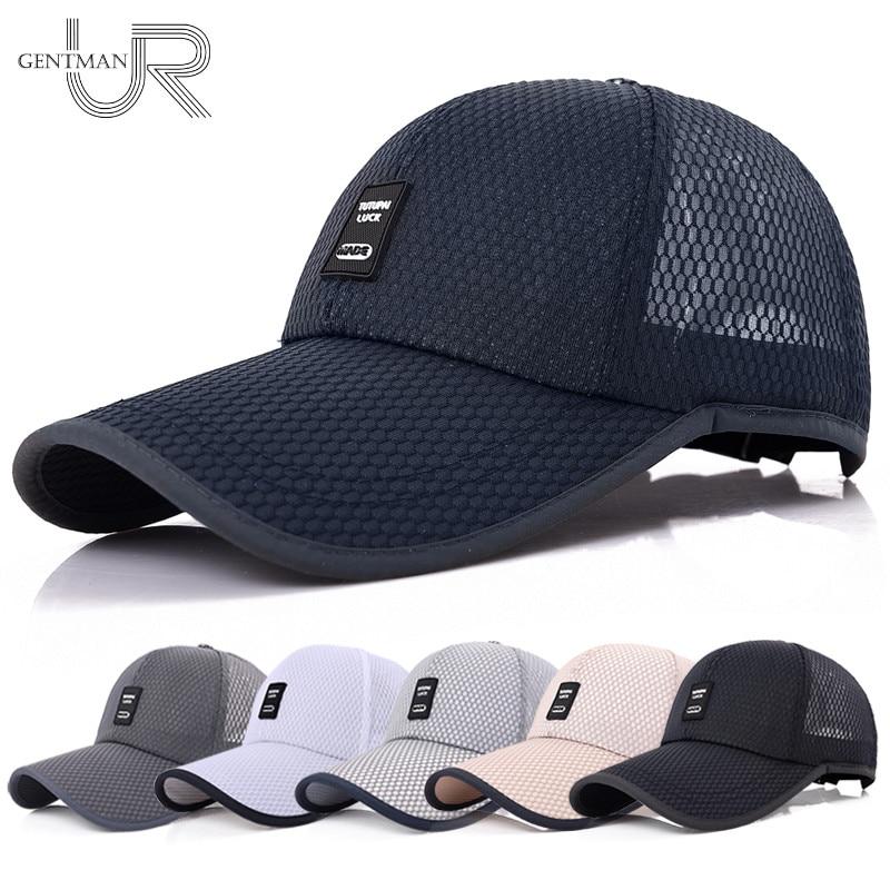 [해외]2018 UniSports Cap Mens Womens Casual Cap For Fishing Outdoor Baseball Cap Long Visor Summer Mesh Dad Hat Sunshade Hat Caps/2018 UniSports Cap Men