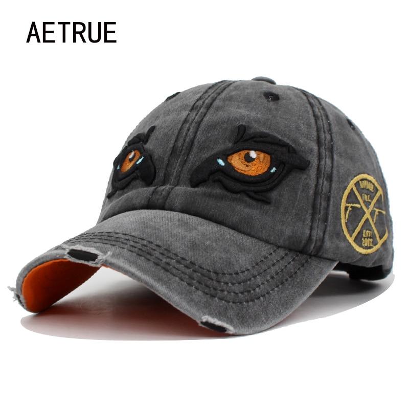 [해외]AETRUE Baseball Cap Men Women Hats Caps For Men Snapback Cotton Embroidery Eye Casquette Brand Bone Gorras Retro Washed Hat Cap /AETRUE Baseball C