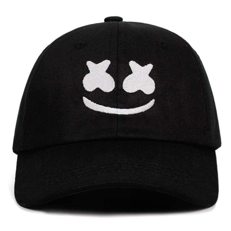 [해외]Doctom Baseball Cap 100% Cotton Embroidery Dad Hat American DJ Chris Comstock UniSnapback Hats Dotcom Alone Smiley face/Doctom Baseball