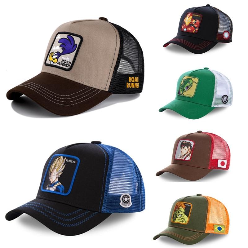 [해외]DRAGON BALL Snapback Cap Cotton Baseball Cap Men Women Hip Hop Dad Mesh Hat Trucker /DRAGON BALL Snapback Cap Cotton Baseball Cap Men Wo