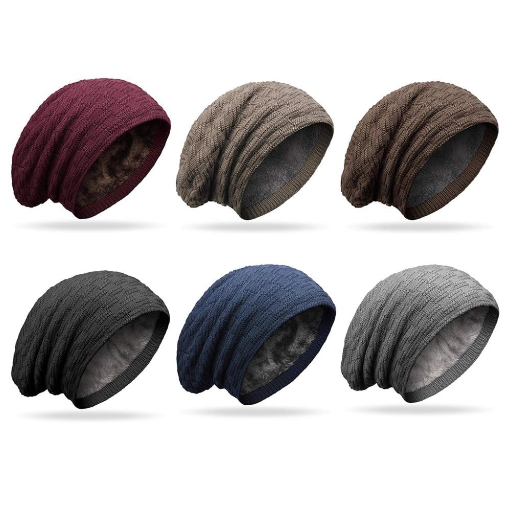 [해외]/Women Men Winter Hat Fashion Knitted Black Gray Hats Fall Hat Thick And Warm And Bonnet Skullies Beanie Soft Knitted Beanies Cot