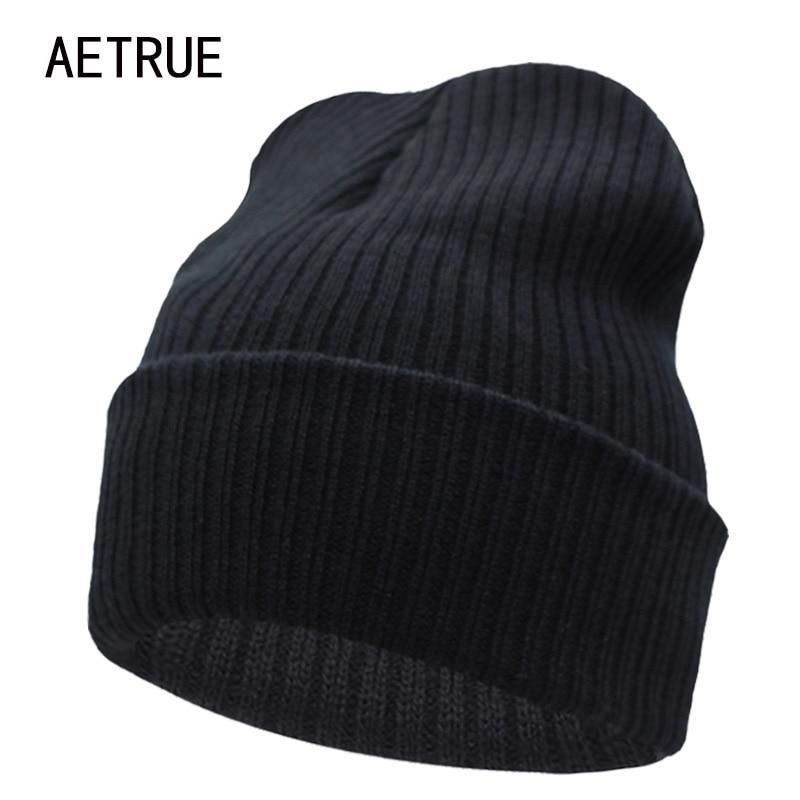 [해외]Beanies Winter Hat For Men Knitted Hat Women Winter Hats For Women Men Knit Caps Blank Casual Wool Warm Flat Bonnet Beanie 2018/Beanies Winter Hat