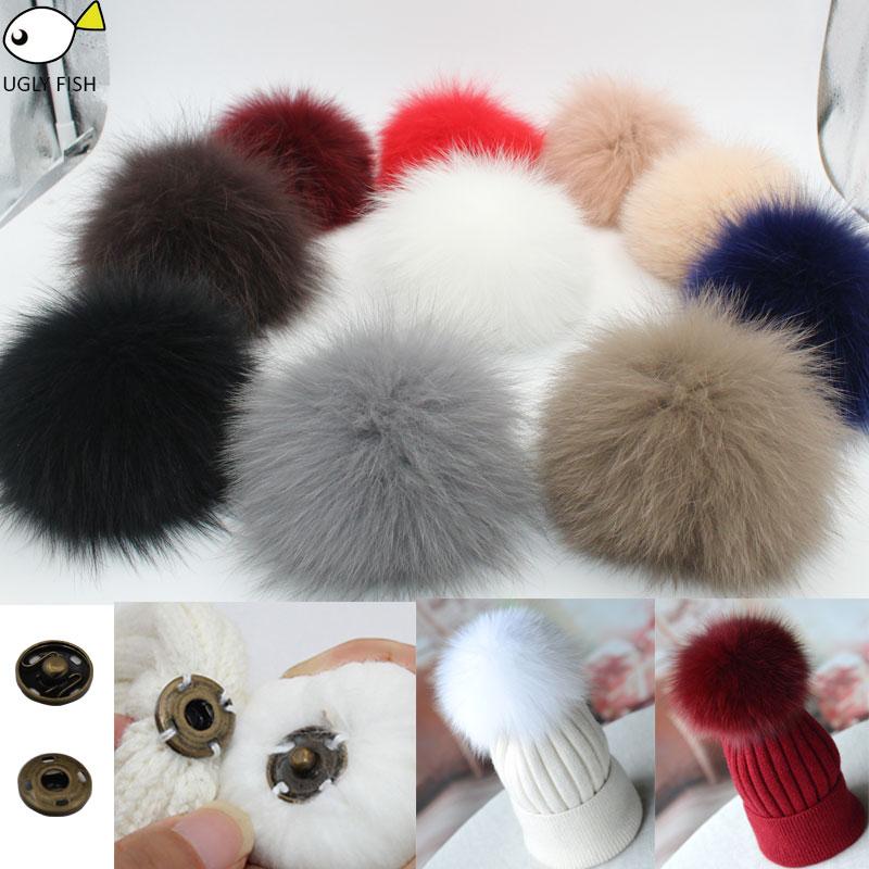 [해외]fur pompoms for cap fur pompoms real raccoon fur pompoms balls real fox fur pompoms for hat /fur pompoms for cap fur pompoms real raccoon fur pomp