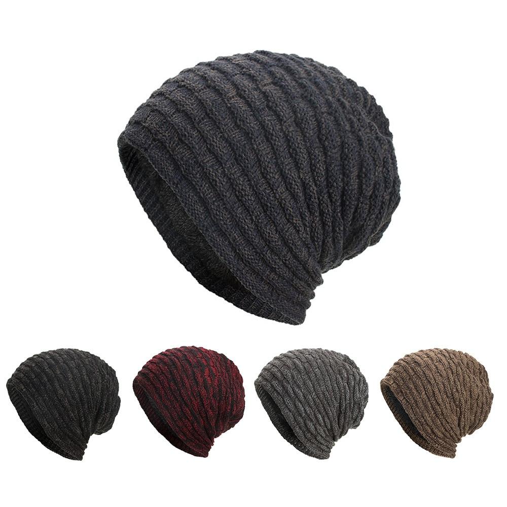 [해외]2018 Women Men Adult hat large knit Warm Casual Solid Baggy Weave Crochet Winter Wool Knit Ski Beanie Skull Caps Hat/2018 Women Men Adult hat larg