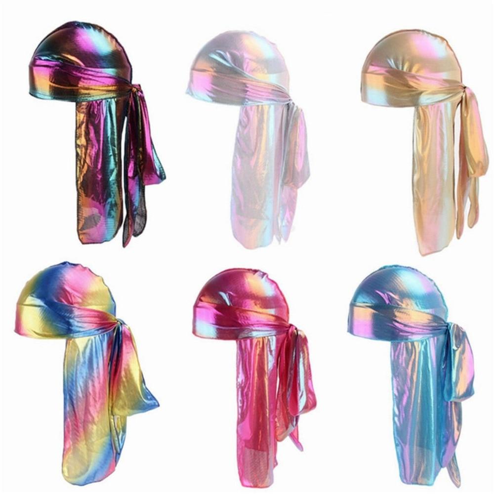 [해외]2019 Men Turban hat Wigs Doo Women Satin Durag Biker Headwear  Hair Accessories Extra Long Tail  Uni3.2/2019 Men Turban hat Wigs Doo Women Satin D