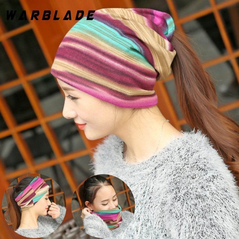 [해외]Fashion Spring Women`s Hat Turban Autumn Winter Warm Headdress Caps Colorful Striped Scarf Sport Sunscreen Beanies Accessories/Fashion Spring Wome