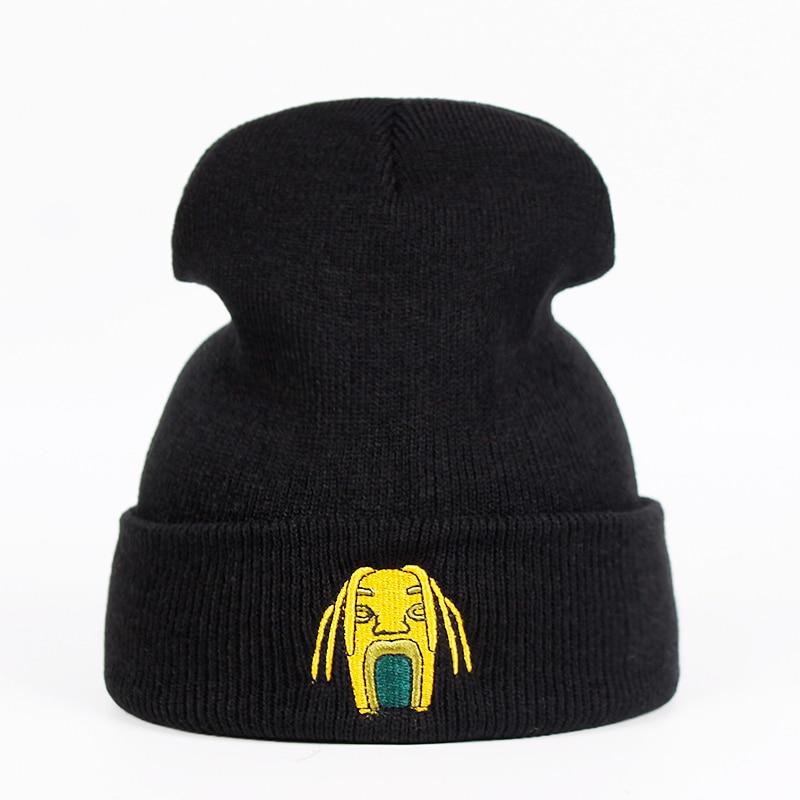 [해외]Astroworld 유원지 니트 모자 트래비스 스콧 비니 자수 니트 모자 skullies 겨울 따뜻한 남여 스키 gorros 모자 트래비스