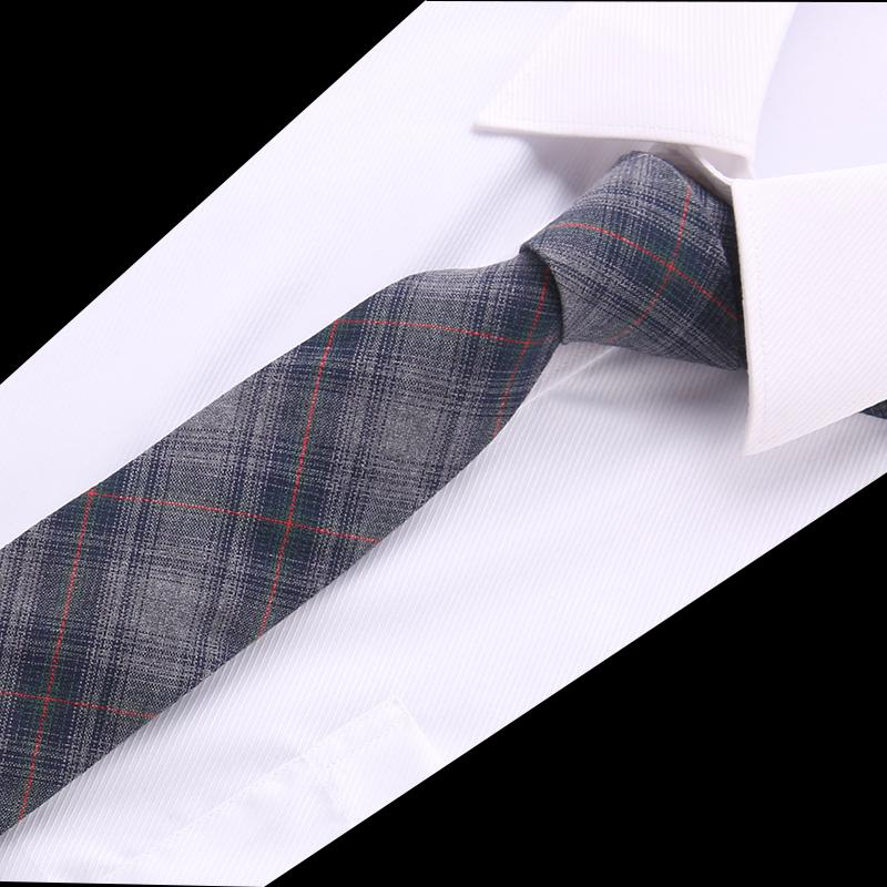 [해외]Joy alice Fashion Skinny Cotton  ties for men Custom made Brand name Checked Slim Mens neckties For gift men suit accesories/Joy alice Fashion Ski