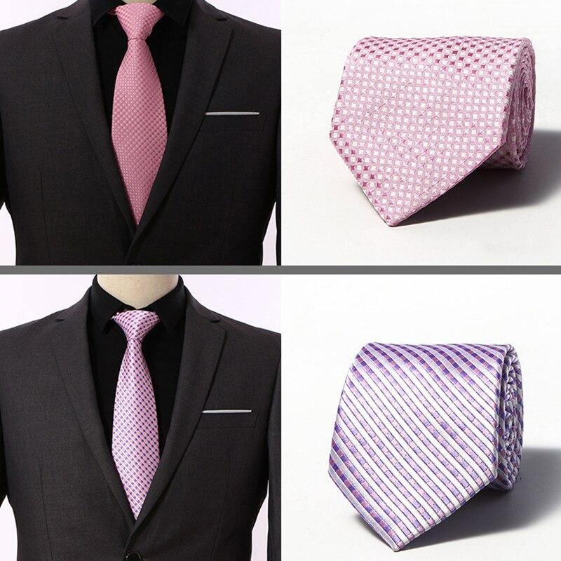 [해외] Fashion Plaid Tie Men`s Striped Ties 8 cm Necktie Black Neck Tie For Formal Business Groom Wedding Party Accessory/ Fashion Plaid Tie Men`s Strip