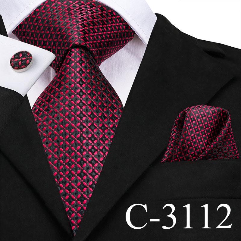 [해외]Hi-Tie 8.5cm Wide Silk Ties for Men US warehouse Dropshipping Necktie Pocket Square CUfflinks Set Red Blue Purple Wedding Tie/Hi-Tie 8.5cm Wide Si