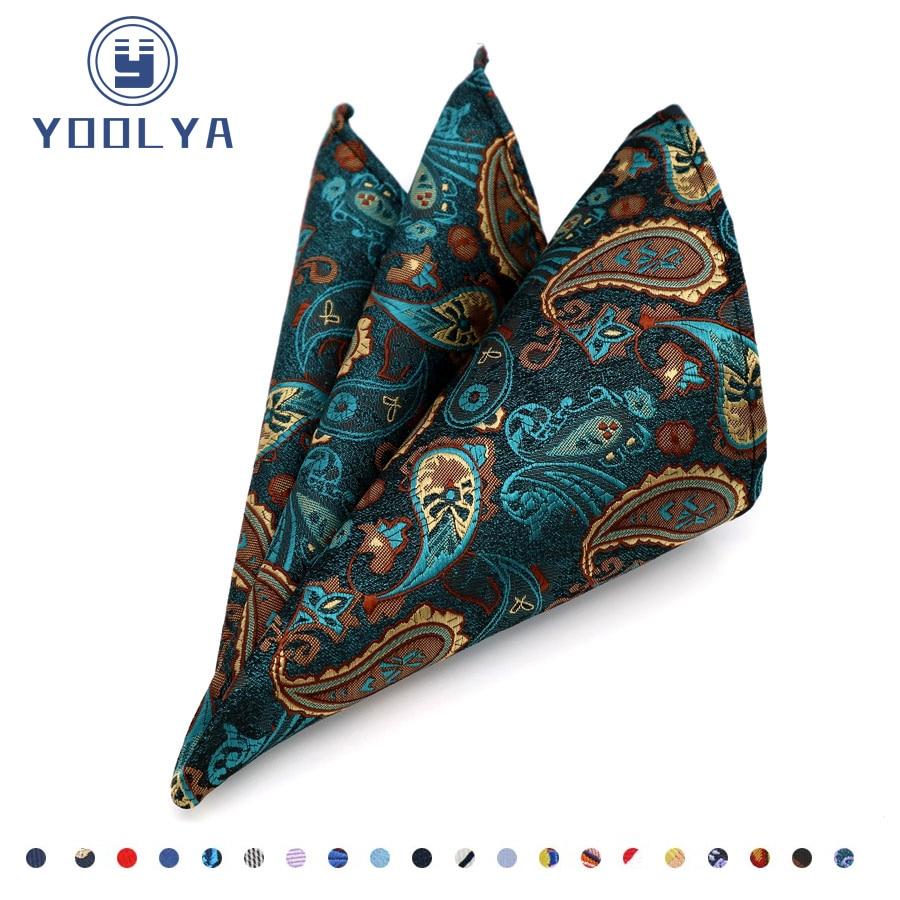 [해외]Luxury Mens Silk Handkerchief Hanky Man Paisley Floral Jacquard Woven Pocket Square 25*25cm For Business Wedding Party/Luxury Mens Silk