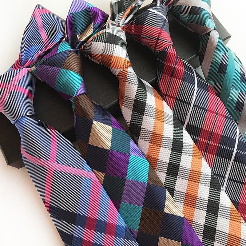 [해외]2018 New Silk Jacquard 8 cm Fashion Plaid Tie Suit Business Tie/2018 New Silk Jacquard 8 cm Fashion Plaid Tie Suit Business Tie