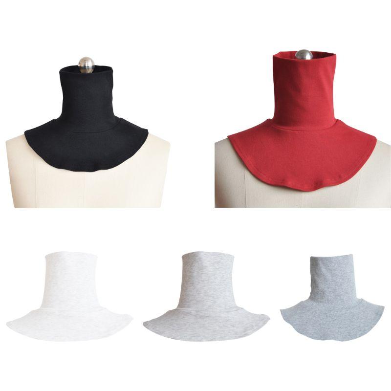 [해외]Fashion Men And Women Knitting Fake High Collar Back Cover Scarf Half Muslim Collar Solid Color Fake Collar Clothes Accessories/Fashion