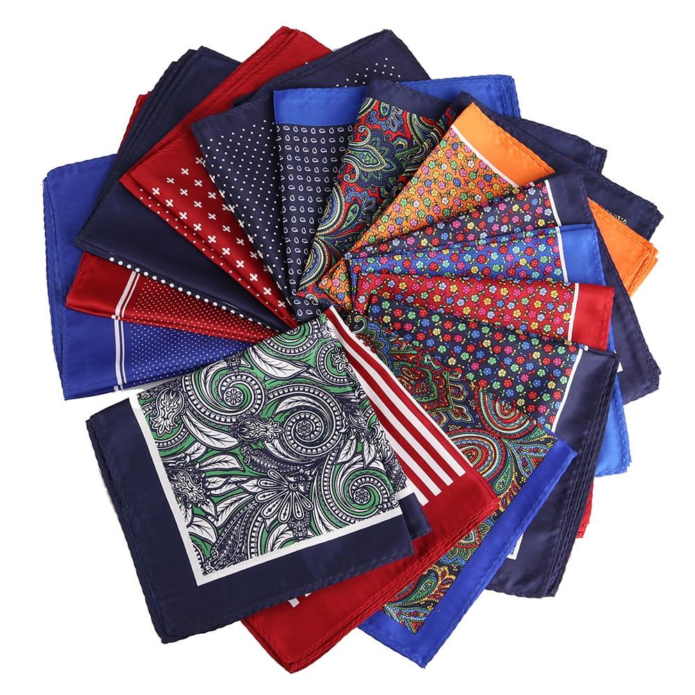 [해외]NEW Cartoon 32 x 32 CM Large Handkerchief Man Paisley Geometric Dot Pocket Square Men Paisley Casual Hankies For mens Suit/NEW Cartoon 3