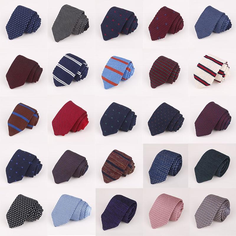 [해외]New Mens Knit Tie 7cm Pointed Tie Neckties Formal Dress Accessories Wedding Party Banquet Knitted Men Tie Daddys Gift Neckwear/New Mens