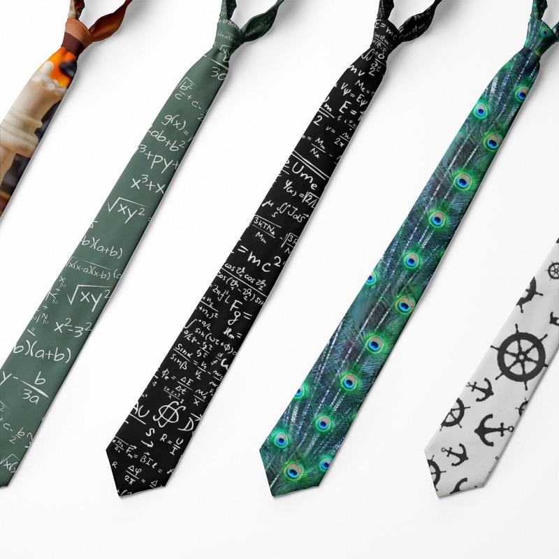 [해외]2019 Plaid Ties Mens Fashion Tie 8cm Black Necktie Creative Printed Tie For Men Causal Funny Party Wedding Accessories 8ZJQLD28/2019 Pla