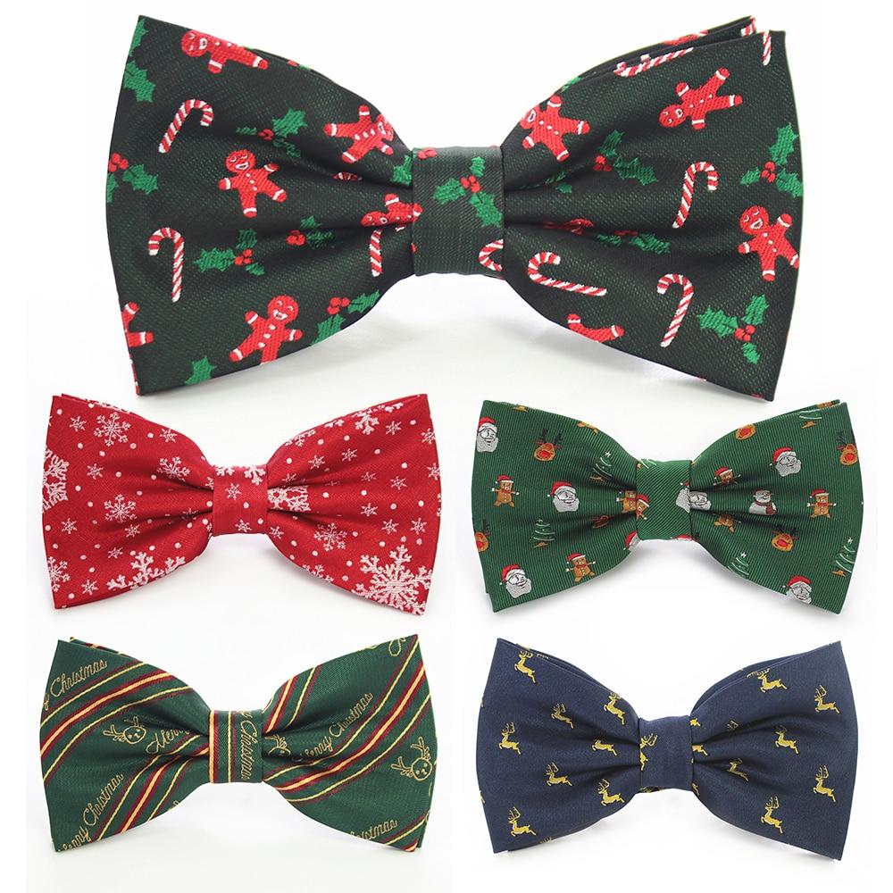 [해외]JEMYGINS Christmas Bow Ties for Mens Shirt  Snowflake Christmas Tree Pattern Men Silk Bow Tie  Christmas Party Gift/JEMYGINS Christmas B