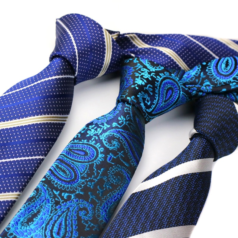 [해외]YISHLINE NEW 6CM Skinny Tie for Men Narrow Necktie Floral Paisley Stripes Ties Blue Red Grey Arrow Wedding Ties Accessories/YISHLINE NEW
