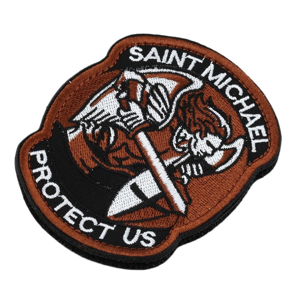 [해외]1 pc 세인트 micheal 오소리 군사 전술 육군 사기 전투 multicam 패치 옷 배낭