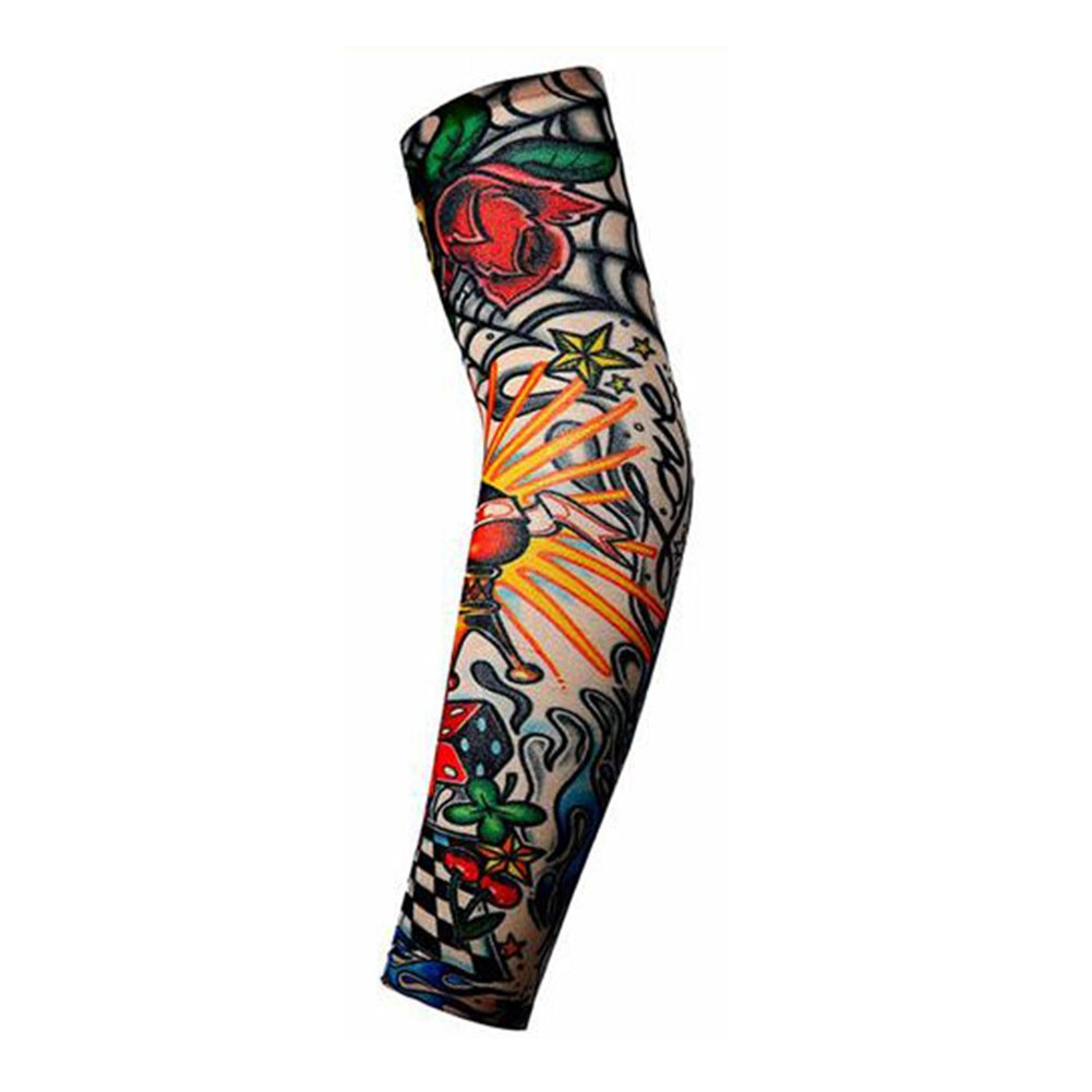 [해외]Arm Protective Sleeves Men Tattoo Arm Leg Sleeves Sun Protection Cycling Halloween Party Decoration/Arm Protective Sleeves Men Tattoo Ar
