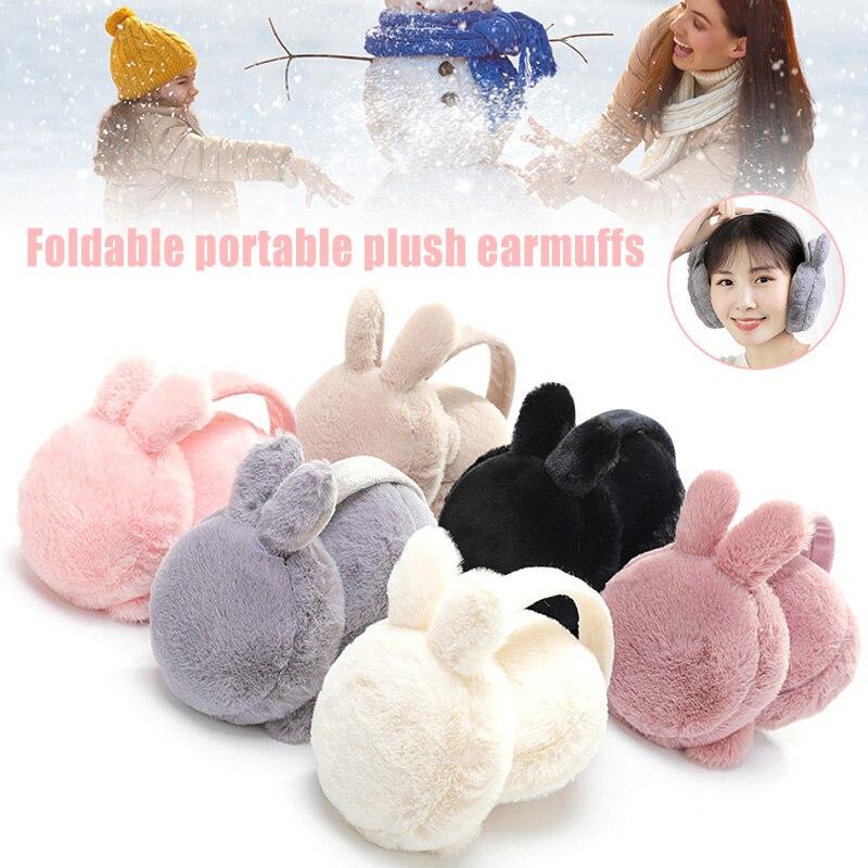 [해외]Winter Plush Ear Muffs Foldable Cartoon Women Warm Earmuffs Ear Warmer HSJ88/Winter Plush Ear Muffs Foldable Cartoon Women Warm Earmuffs