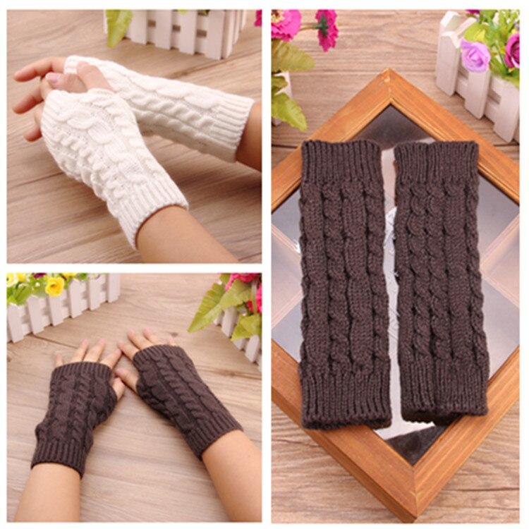 [해외]women and men gloves Stylish hand warmer winter gloves women Arm Crochet Knitting faux Wool Mitten warm Fingerless Gloves 20cm/women and men glove