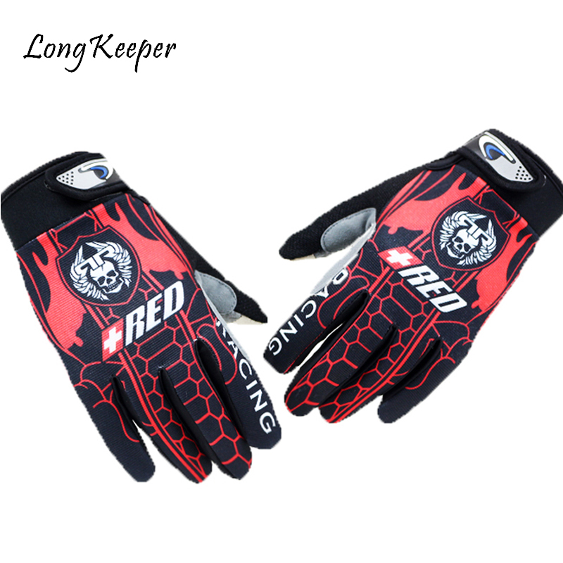 [해외]Long Keeper Kiss Screen Gloves Full Finger Sports Cycling Gloves for Men Women Skull Motorcycle Gloves Fitness guantes G129/Long Keeper Kiss Scree