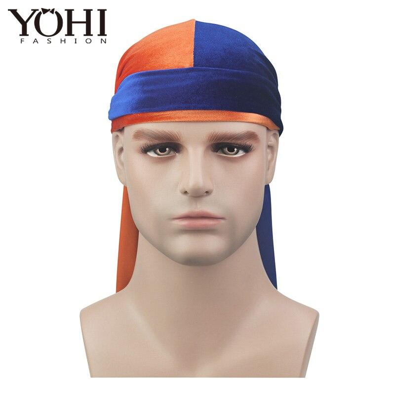 [해외]/2018New Luxury Men`s P Velvet Durags Bandana Turban Hat Wigs Doo Durag Biker Headwear Headband Pirate Hat Hair Accessories