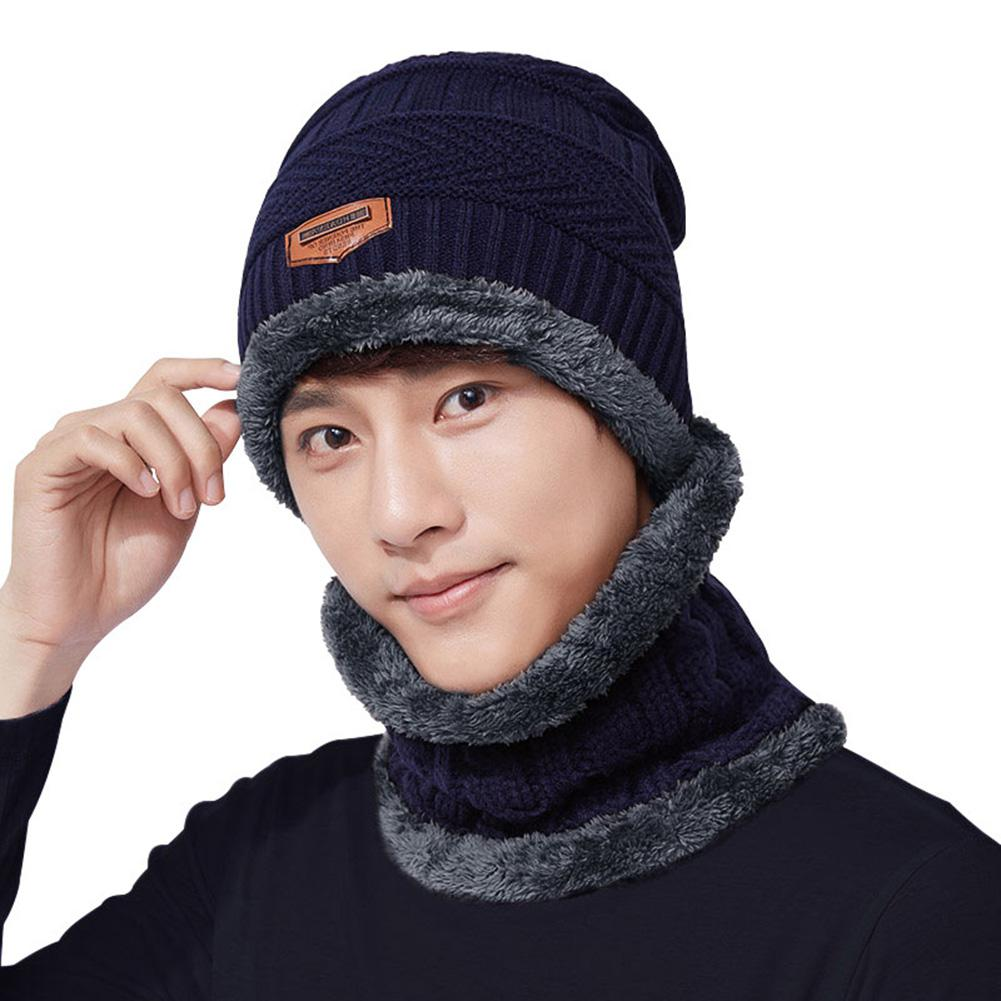[해외]ZACOO 2PCS/Set Men Hat Neck Gaiter Hat Collar Suit Knitted Cap Neck-Warmer san0/ZACOO 2PCS/Set Men Hat Neck Gaiter Hat Collar Suit Knitted Cap Nec