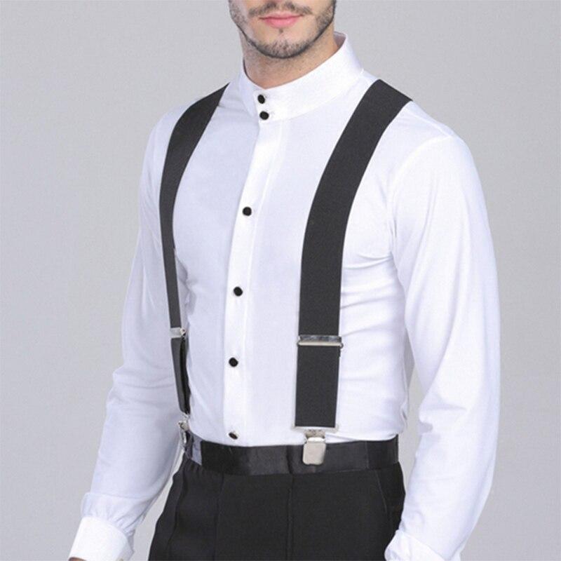 [해외]Elastic Adjustable Braces Suspenders Men Adjustable 4 Clips Black Trouser Wide 5cm X ShapeStrong Metal Bretelles 12 Colors/Elastic Adjustable Brac