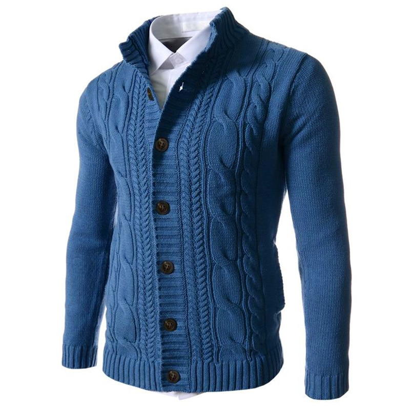 [해외]가을 겨울 패션 브랜드 2019 새로운 남성 스웨터 v-목 단추 스트 라이프 패션 단색 긴 소매 풀오버 스웨터 남자 M-3XL/가을 겨울 패션 브랜드 2019 새로운 남성 스웨터 v-목 단추 스트 라이프 패션 단색 긴 소매 풀오버 스웨터 남자