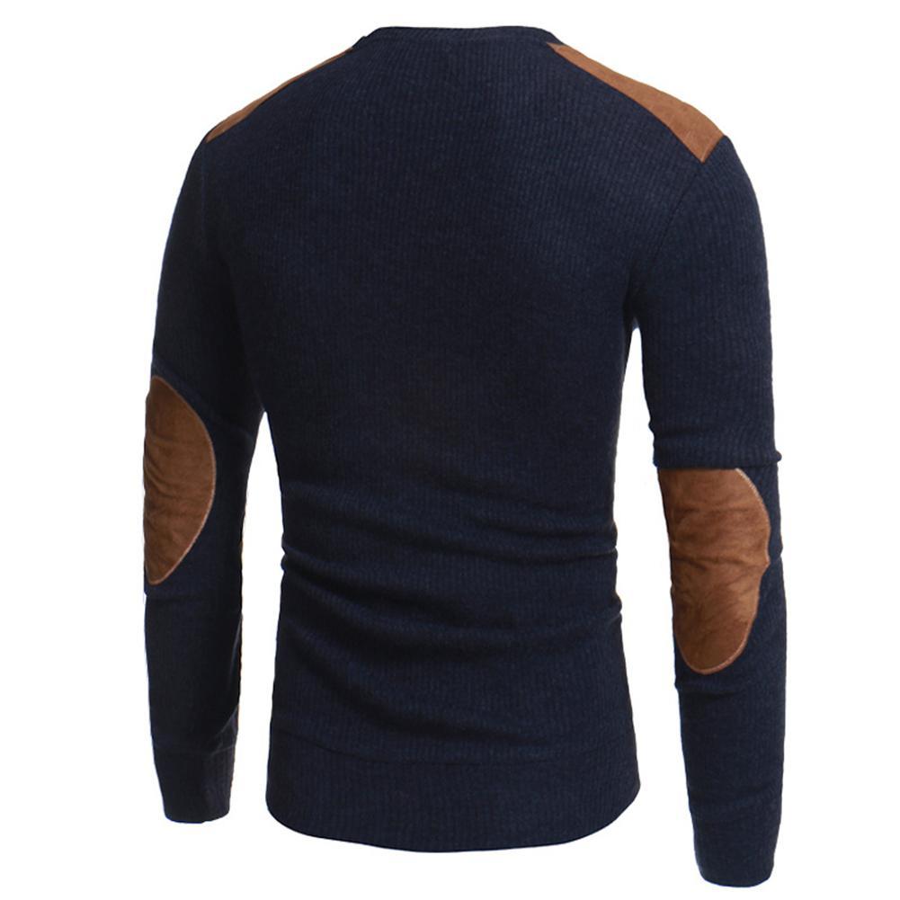 [해외]Men Winter Warm Knitted Sweater Casual Pullover Round Neck Long Sleeve Slim Top SAN0/Men Winter Warm Knitted Sweater Casual Pullover Round Neck Lo