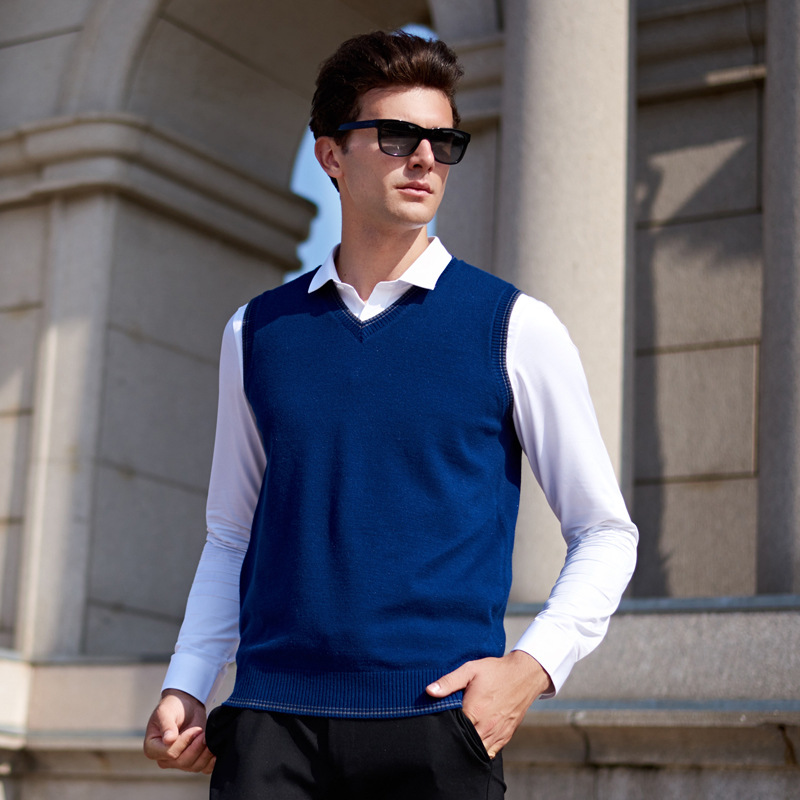 [해외]MRMT 2019 Brand Autumn Winter New Men`s Vest Casual Knit Vest for Male Solid Color V-neck Tops Vest/MRMT 2019 Brand Autumn Winter New Men`s Vest C