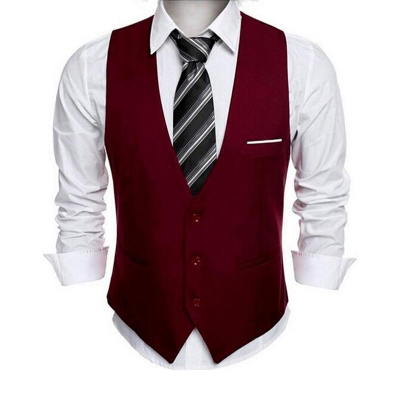 [해외]클래식 Mens 정장 조끼 공식적인 웨딩 드레스 슬림 맞는 남자 양복 조끼 남자 V 칼라 남성 조끼/Classic Mens Suit Vest Formal Wedding Dress Slim Fit Men Waistcoat Man`s V Collar Vests Fo