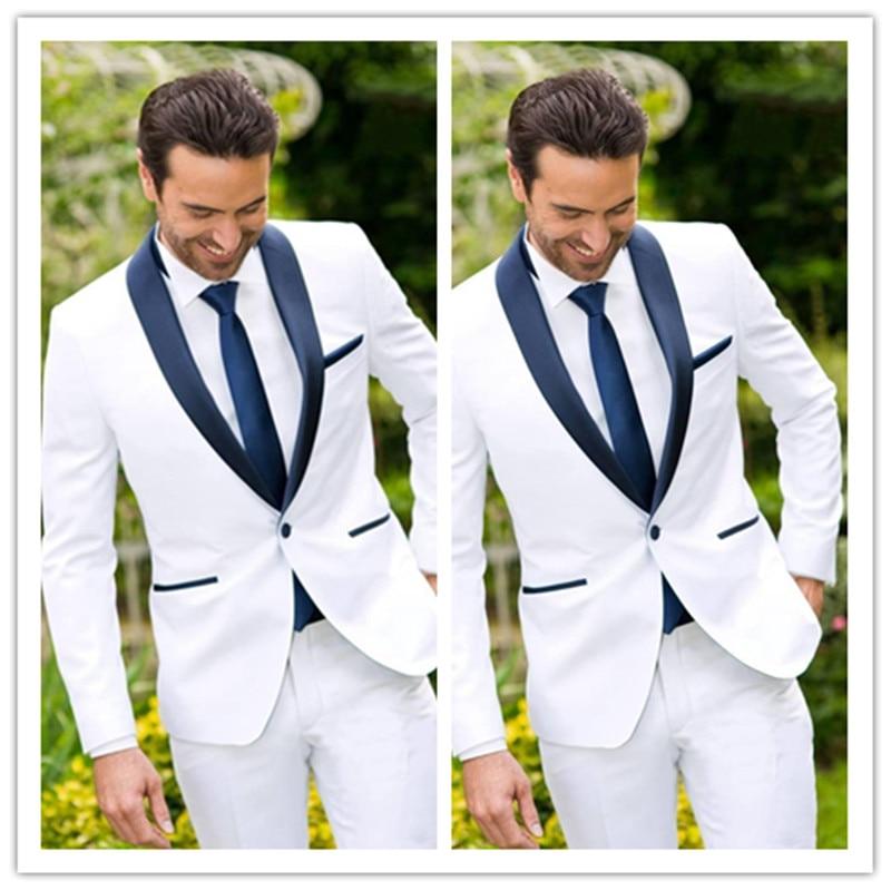 [해외]Latest Classic Design White Groom Tuxedos Groomsmen Best Man Suit Mens Wedding Suits Bridegroom Business Suits (Jacket+Pants)/Latest Cla
