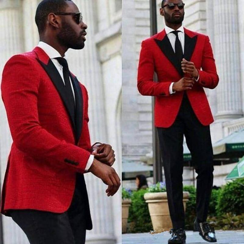 [해외]Red Groom Tuxedos Beautiful Men Formal Suits Business Men Wear Wedding Prom Dinner Suits (Jacket+Pants)/Red Groom Tuxedos Beautiful Men
