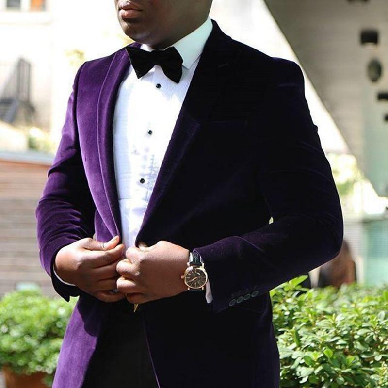 [해외]Peak Lapel men suits groom wedding tuxedos mens wedding suits costumes de smoking pour hommes(Jacket+Black Pants)/Peak Lapel men suits g