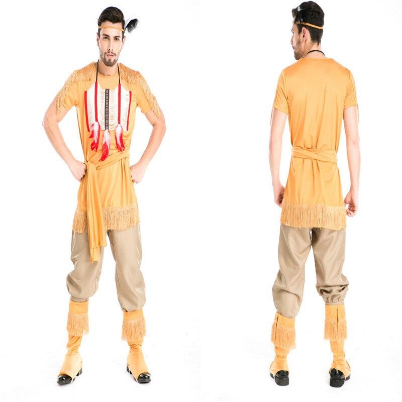 [해외]남자의 원주민 인디언 롤 플레잉 코스프레 크리스마스 할로윈 사냥꾼 궁수 의상/남자의 원주민 인디언 롤 플레잉 코스프레 크리스마스 할로윈 사냥꾼 궁수 의상