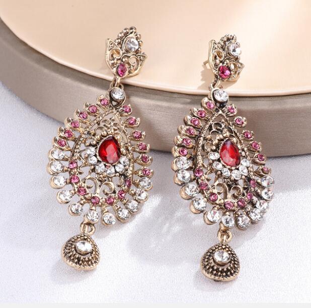 [해외]2 Pairs India Turkey Retro Accessories Earrings Performance Accessory For Woman Eardrop/2 Pairs India Turkey Retro Accessories Earrings