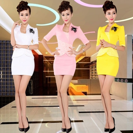[해외]Sexy Slim Hotel stewardess professional suite beauty SPA technician service foot bath sauna technician work clothes do173/Sexy Slim Hotel stewarde