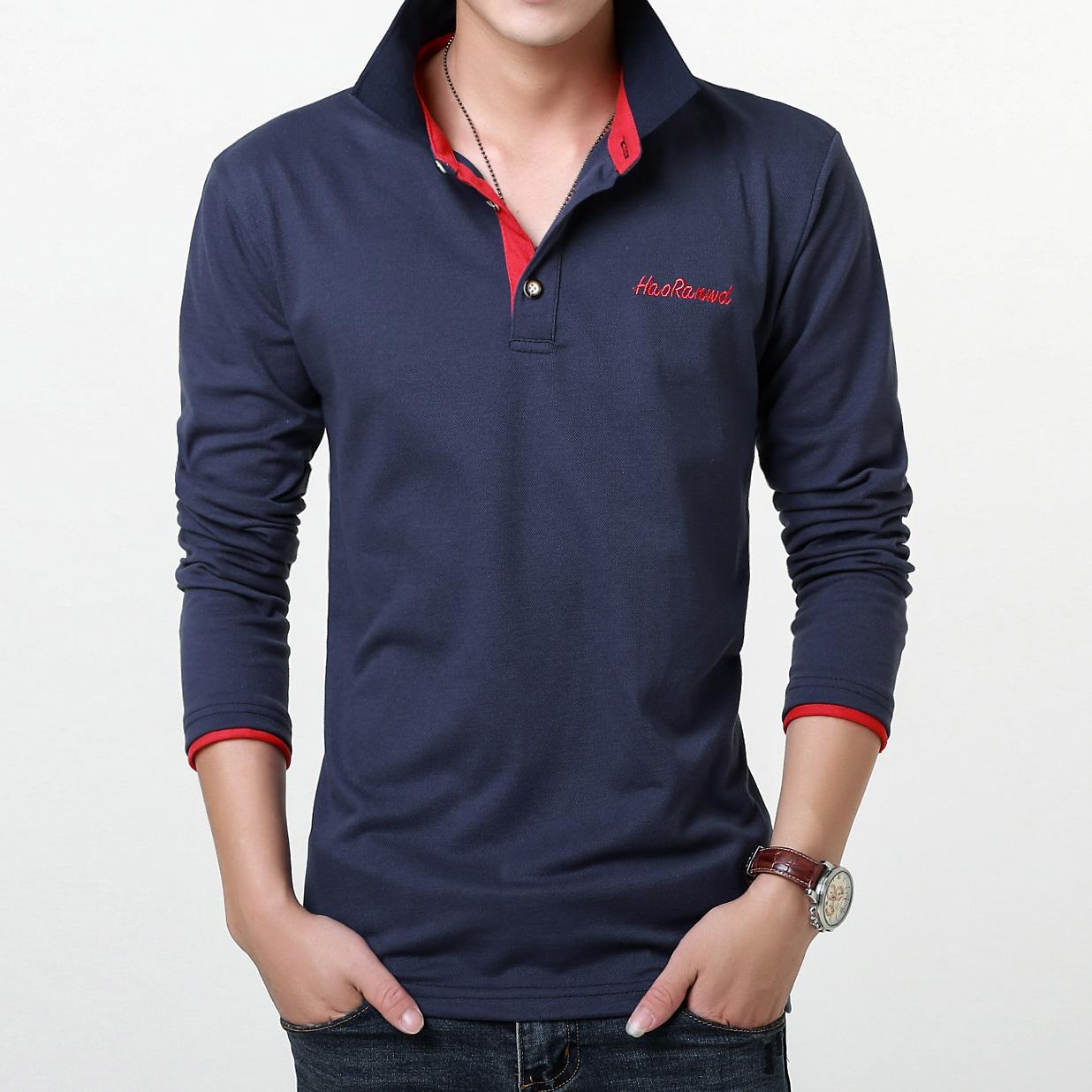 [해외]2016 패션 수 놓은 로고 남성 폴로 셔츠 브랜드 23 색상 캐주얼 폴로 긴 Retail 셔츠 남자 크기 3xl/2016 Fashion Embroidered Logo Mens Polo Shirts Brands 23 Colors Casual Polo Long S