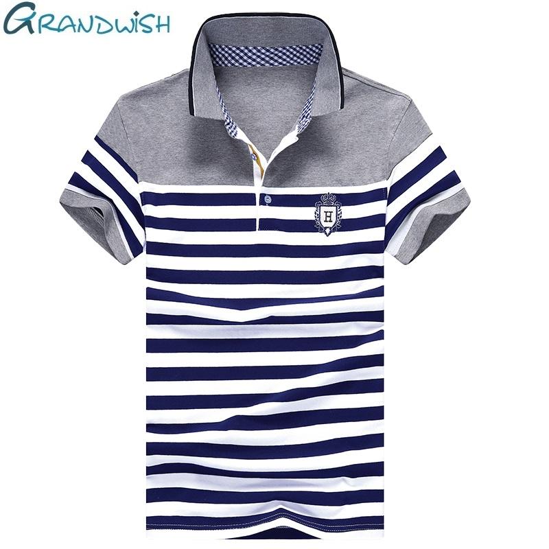[해외]Grandwish Stripe Polo Shirts Mens 2017 남성을새로운 짧은 Retail 줄무늬 폴로 셔츠 Summer Turn-Down Collar Homme Polos, PA985/Grandwish Stripe Polo Shirts Mens 201